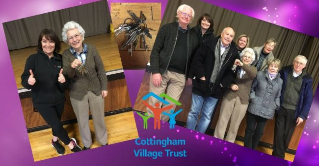 Today the Civic Hall was handed over from EYRC to the Cottingham Village Trust