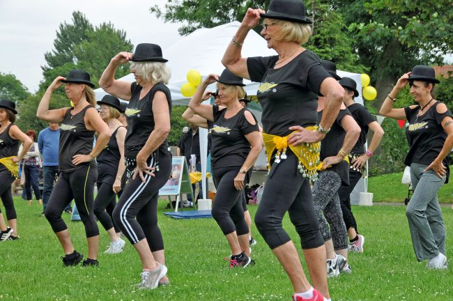 Fitness Vibe display team at the annual Hallgate Summer Gala