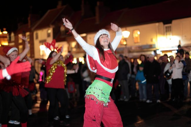 Festive fun at Beverley Christmas Light Switch on with Tracy Hammond