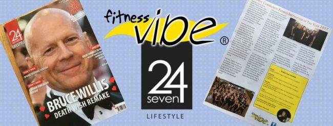 Fitness Vibe featured in 24Seven Lifestyle Magazine