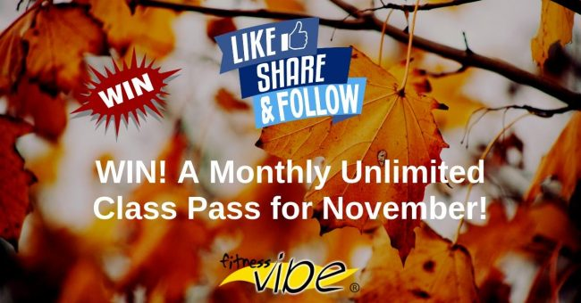 Competition Time!  Win a free Unlimited Class Pass for November.