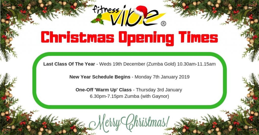 Zumba Christmas Images.Christmas Opening Closing Times