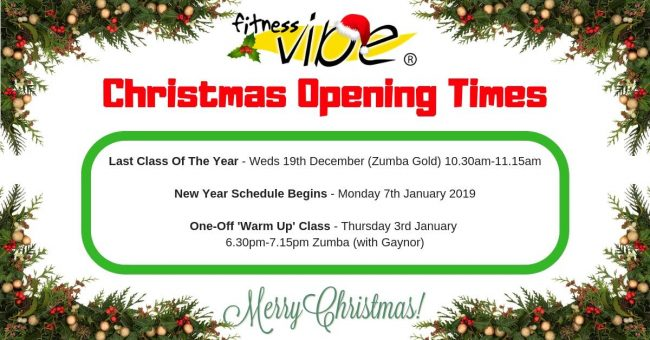 CHRISTMAS OPENING/CLOSING TIMES
