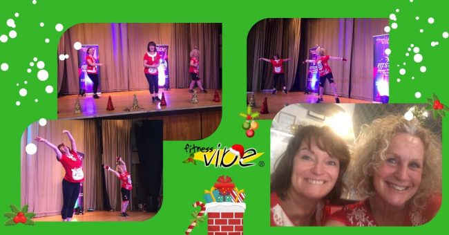 What a lovely surprise Debs co-presenting Festive Fitsteps class