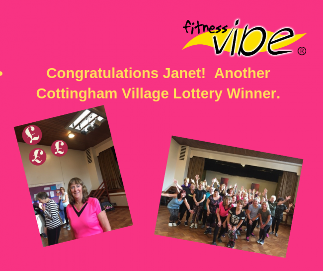 Congratulations to Janet on her win at the Cottingham Lottery