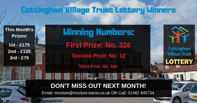 Have you heard about the Cottingham Village Lottery?  Are you in it?