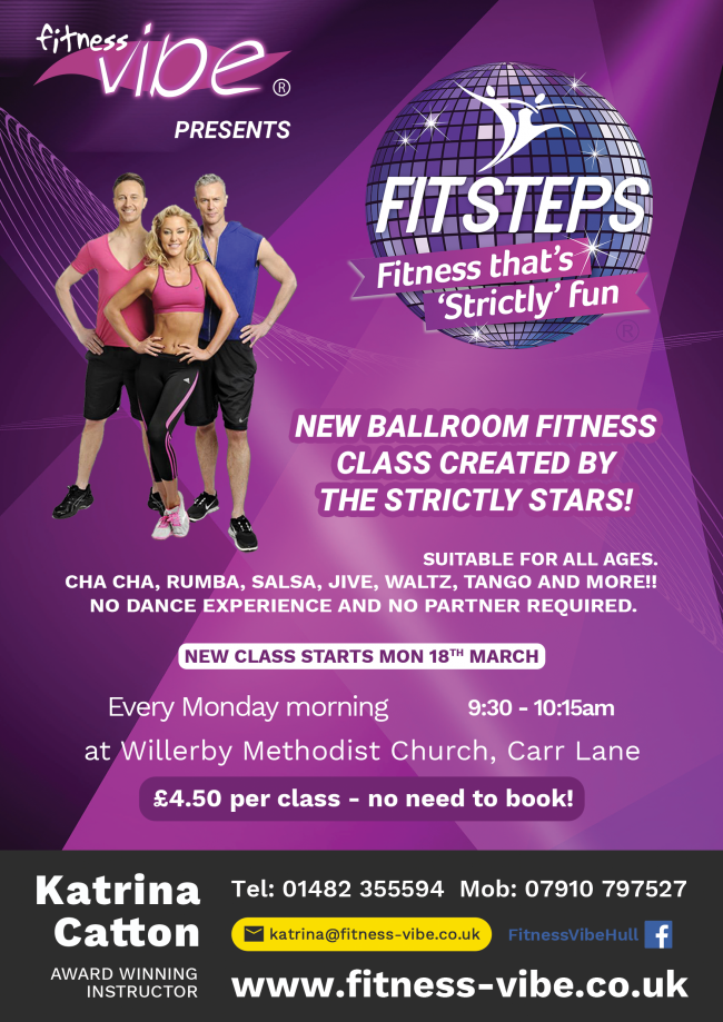 New Willerby Monday morning Strictly Fitsteps Class Starts Monday 18th March!