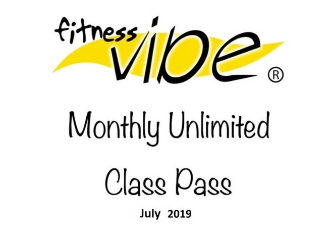 July Unlimited Class Pass £37 (5 week month).