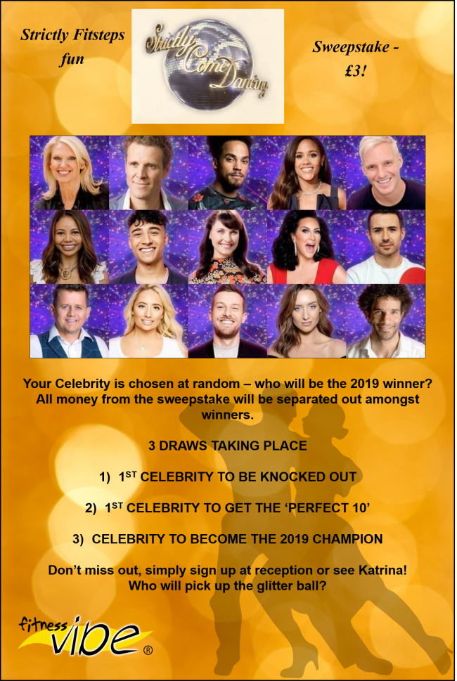 Join our Strictly Sweepstake!