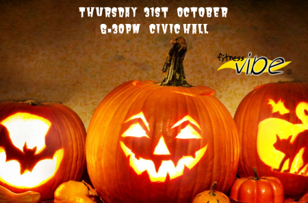 Halloween Zumba Bash Thursday 31st October 6.30pm Civic Hall