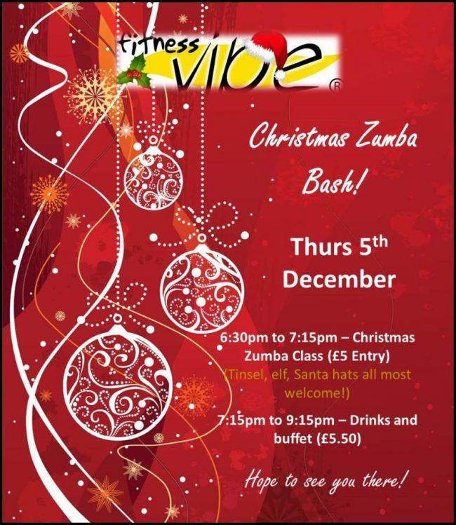 Evening Christmas Zumba Bash Thursday 5th December 6.30pm – 9.30pm