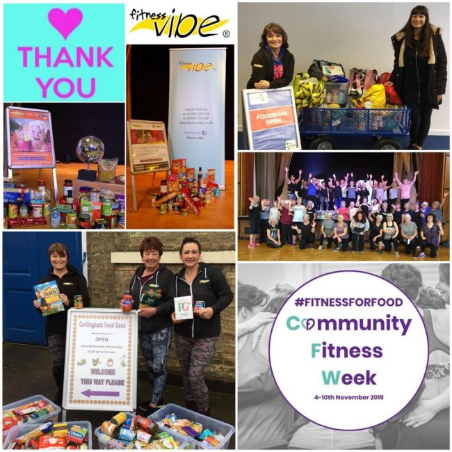 A big thank you for all your food donations for Community Fitness Week