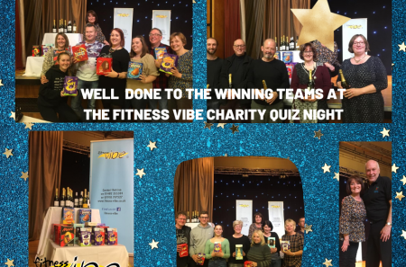 Well done to the winning teams at the Fitness Vibe Charity Quiz Night Friday 6th March