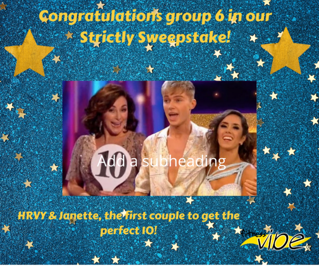 Congratulations to group 6 in our Strictly Sweepstake!