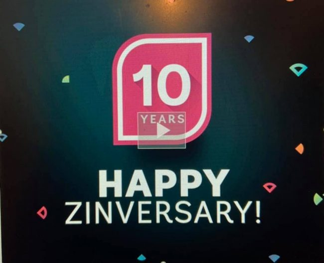 10 year Zinversaary