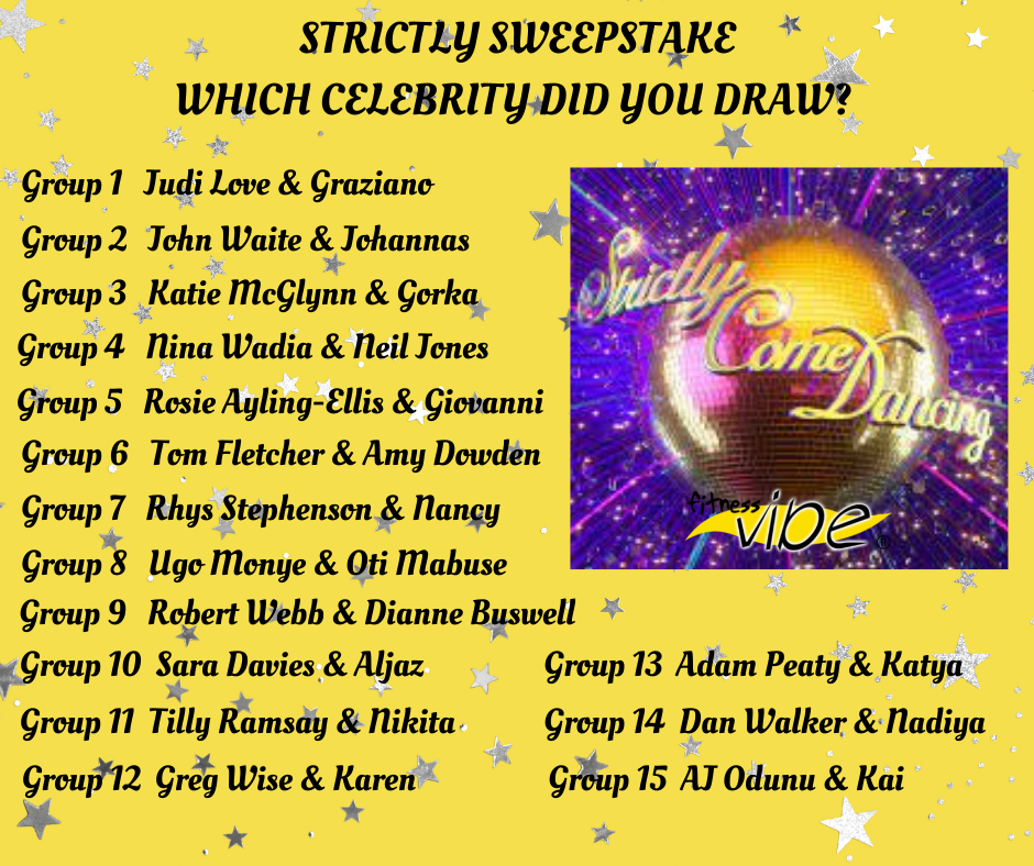 Strictly Sweepstake – which celebrity did you draw?